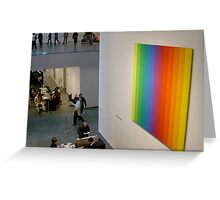 Ellsworth Kelly in Foyer of MoMA New York USA Greeting Card