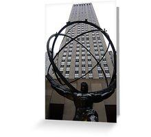 Statue of Atlas - Rockefeller Center, New York City Greeting Card