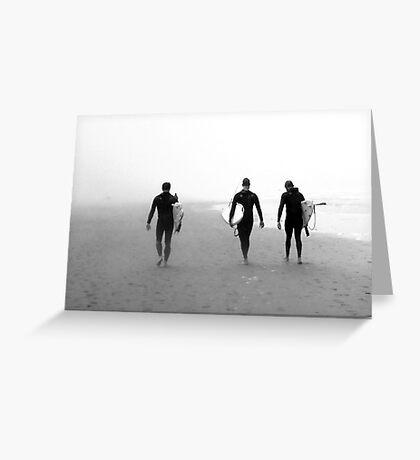 Surfers at Ocean Beach, San Francisco Greeting Card