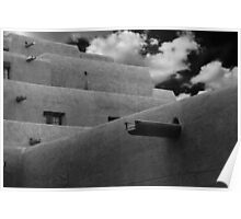 Santa Fe adobe in infra-red Poster