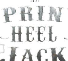 Spring Heeled Jack - The Terror of London Sticker