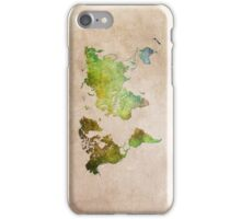 Green World Map ecology iPhone Case/Skin