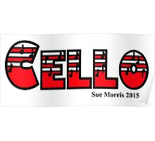 Cello Red I Poster