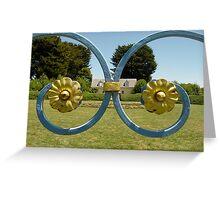 'Garden Symmetry' Home of Stuart Rattle, Musk Victoria Greeting Card