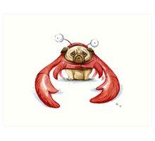 Lobster Pug Art Print