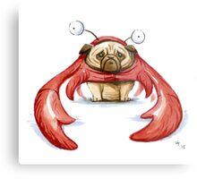 Lobster Pug Metal Print