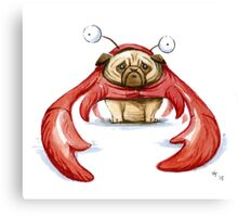 Lobster Pug Canvas Print