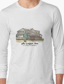 Phi Kappa Tau Beta Chi Watercolor Illustration Long Sleeve T-Shirt