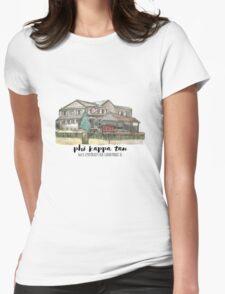Phi Kappa Tau Beta Chi Watercolor Illustration Womens Fitted T-Shirt