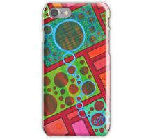 Red Green Path iPhone Case/Skin