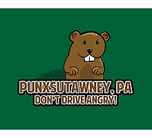 Don't Drive Angry Photographic Print
