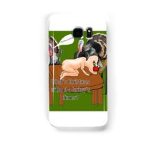 turkeys eating humans for christmas dinner Samsung Galaxy Case/Skin