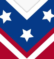 Red White and Blue Stars and Stripes Chevron Sticker