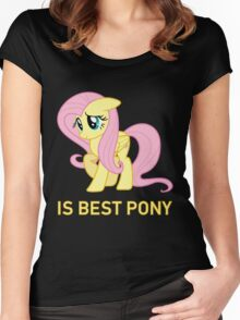 Fluttershy Is Best Pony - MLP FiM - Brony Women's Fitted Scoop T-Shirt