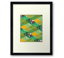 Isometric Farmlands Framed Print