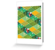 Isometric Farmlands Greeting Card