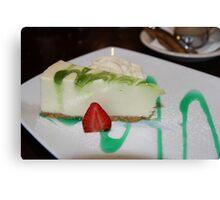Dessert: Full Cream Cheesecake Canvas Print