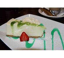 Dessert: Full Cream Cheesecake Photographic Print