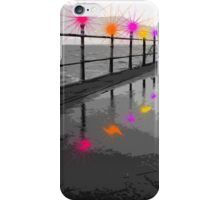 Blackpool Xmas Cards - Light Rails iPhone Case/Skin