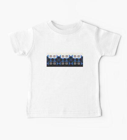 Blue Black and White Norwegian Sweater  Baby Tee