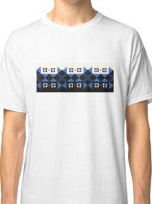 Blue Black and White Norwegian Sweater  Classic T-Shirt