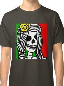 Rasta skeleton girl. Classic T-Shirt