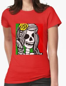 Rasta skeleton girl. Womens Fitted T-Shirt