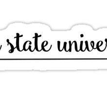 Iowa State University Arrow  Sticker