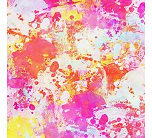 Red Rain abstraction painting Photographic Print