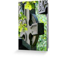 'Crosses' Stamford Hill Cemetery, London UK Greeting Card