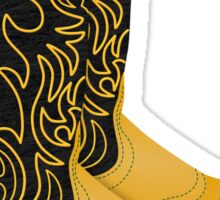 Texas Cowboy Roper Boots Sticker