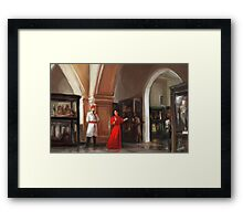 Aleister Crowley and Rose Kelly in the Cairo Museum 1904 Framed Print