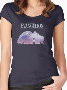 End Of Evangelion - Galaxy Women's Fitted Scoop T-Shirt