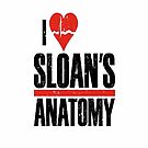 Grey's Anatomy: I Heart Sloans Anatomy - Iphone Case  by sullat04