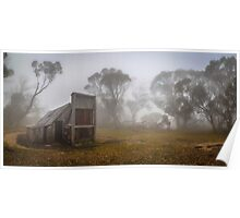Wallaces Hut Colour Panorama Poster