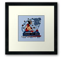 Tardis Girl Framed Print