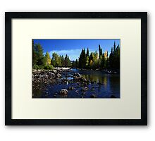 Grand Tetons River, Wyoming Framed Print