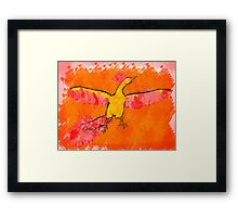 Moltres Through the Flames Framed Print