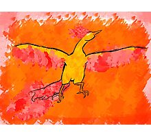 Moltres Through the Flames Photographic Print