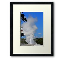 Old Faithful - Yellowstone Natioal Park - Wyoming Framed Print