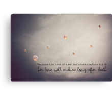 Love of a Mother Canvas Print