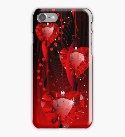 Ruby hearts iPhone Case/Skin