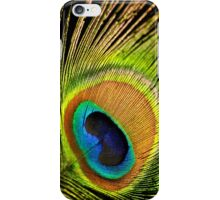 Golden peacock feather iPhone Case/Skin
