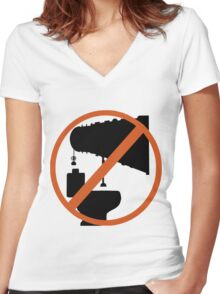 Do Not Plunge Women's Fitted V-Neck T-Shirt