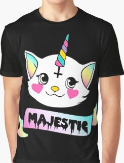 Kitty Unicorn is Majestic Graphic T-Shirt