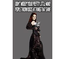 ❀◕‿◕❀ DON'T WORRY.. PEOPLE THROW ROCKS AT THINGS THAT SHINE IPHONE CASE ❀◕‿◕❀ by ╰⊰✿ℒᵒᶹᵉ Bonita✿⊱╮ Lalonde✿⊱╮