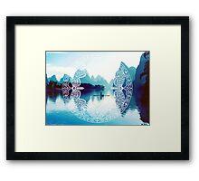 Lake in China Framed Print