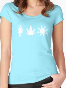 Women Weed Weather  Women's Fitted Scoop T-Shirt