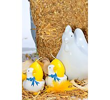 Easter, chicken and egg decoration Photographic Print