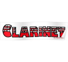 Clarinet Red I Poster